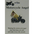 Motorcycle Angel Pin with USA Flag